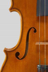 Anno 1978 – Violino costruito a scuola nel IV anno di diploma