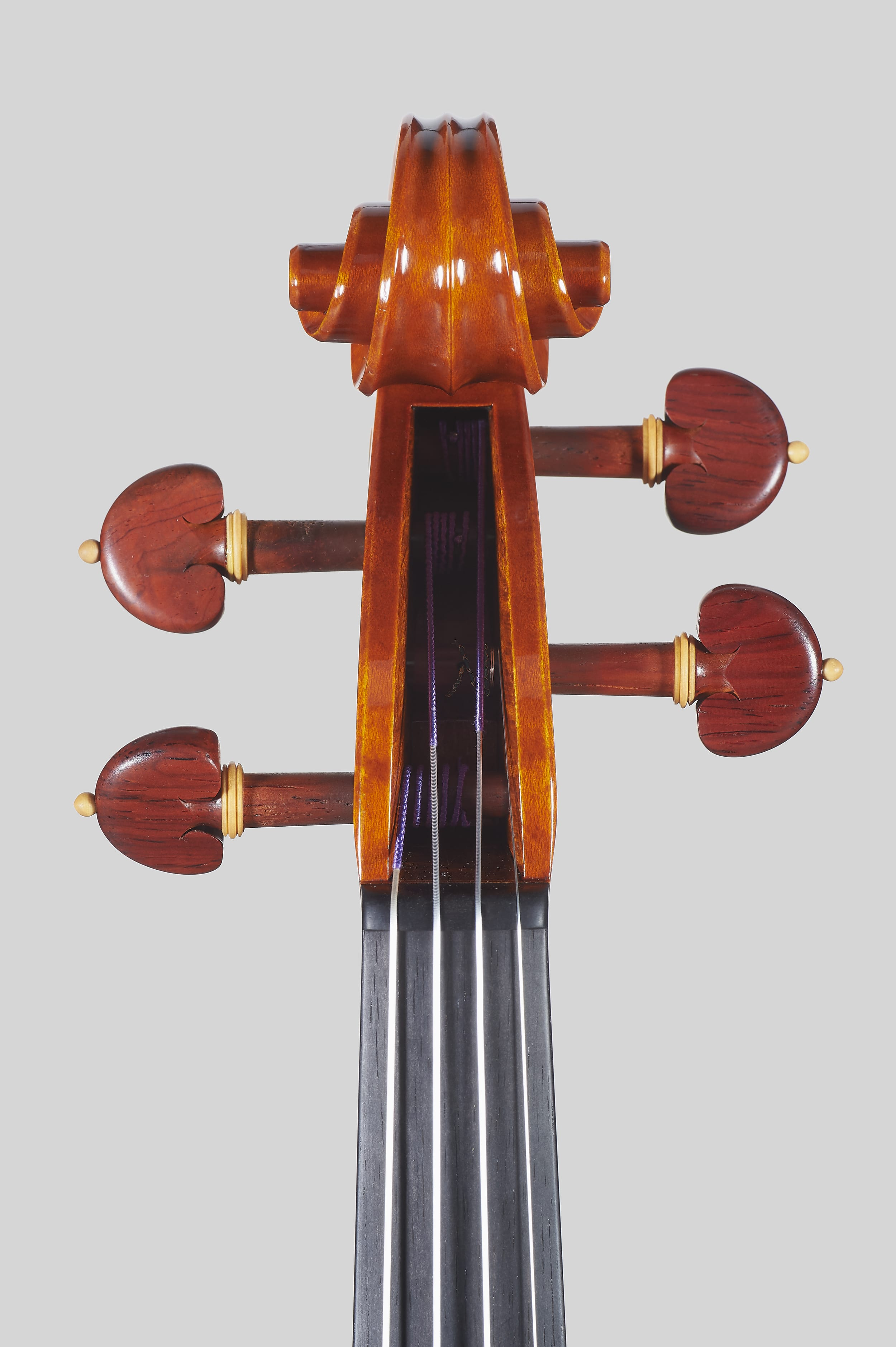 "Anno 2018 – Violino modello stile A. Stradivari ""Soil"" 1714 - Testa fronte"