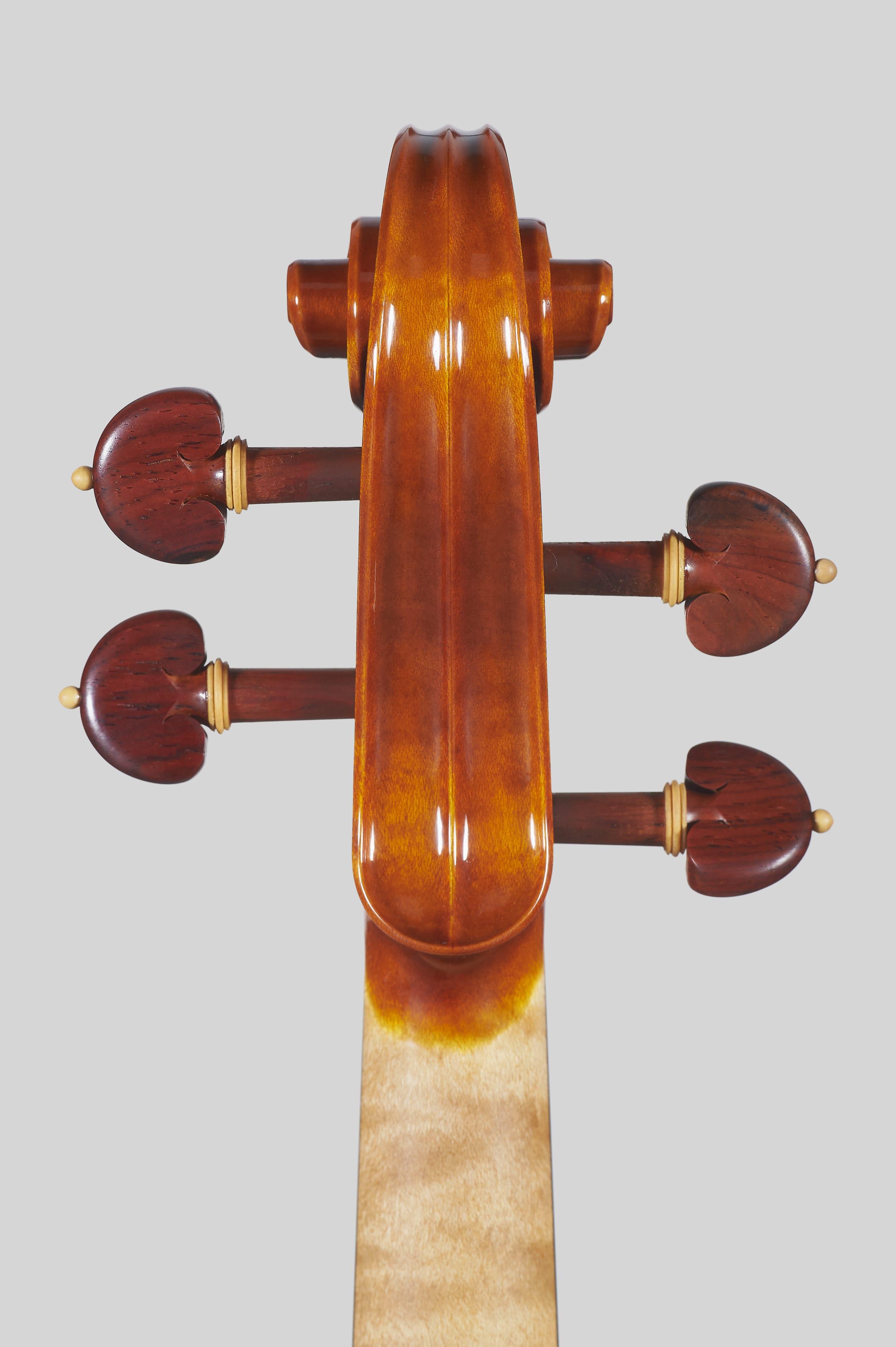 """Anno 2018 – Violino modello stile A. Stradivari """"Soil"""" 1714 - Testa retro"""