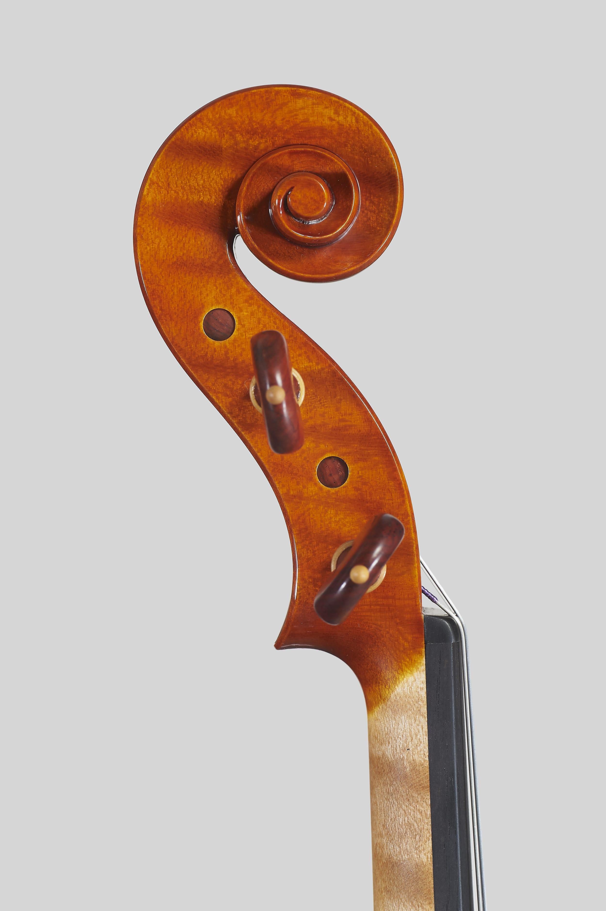 """Anno 2018 – Violino modello stile A. Stradivari """"Soil"""" 1714 - Testa sinistra"""